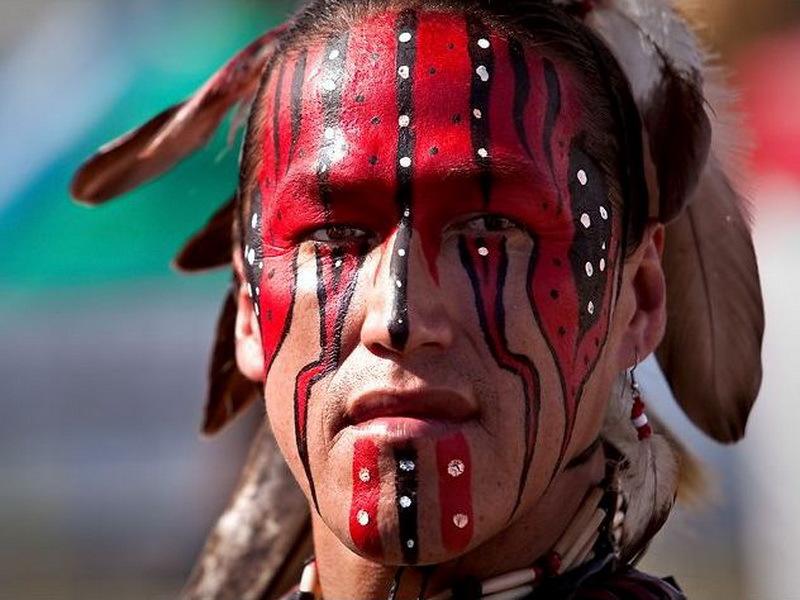 индейца боевая фото раскраска