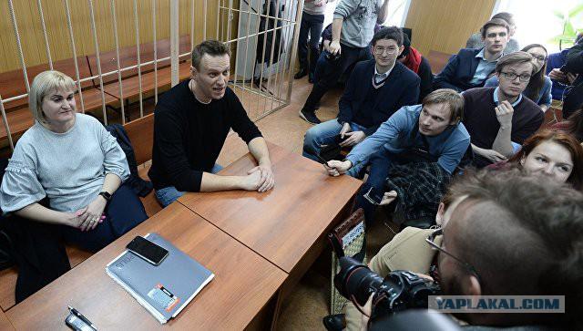 Навального оштрафовали за организацию несанкционированной акции в Москве