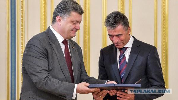Порошенко назначил своим внештатным советником экс-генсека НАТО Расмуссена