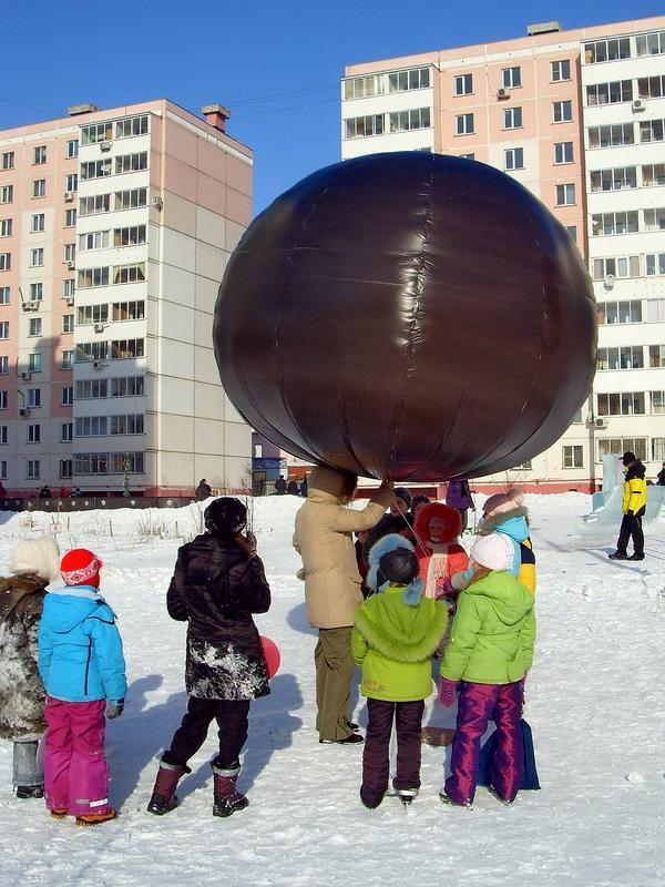 Воздушный шар-монгольфьер на солнечной тяге