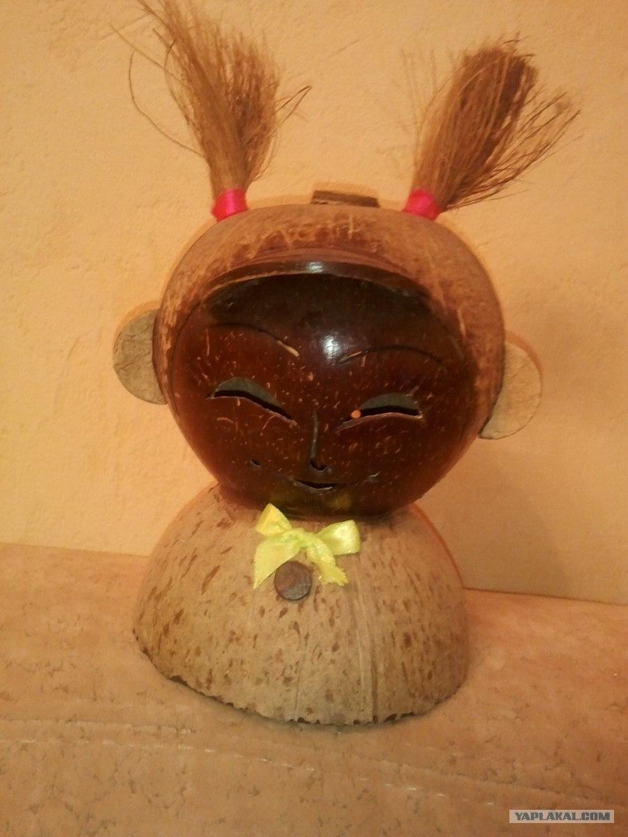 Поделка из скорлуп кокоса