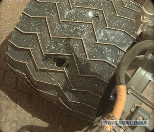 Марсоход «Кьюртосити» может потерять колеса