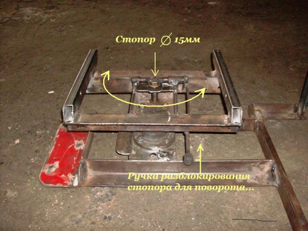 Как сделать поворотный механизм на сидения