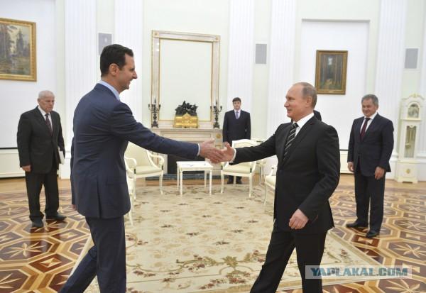 Башар Асад: Путин — единственный защитник