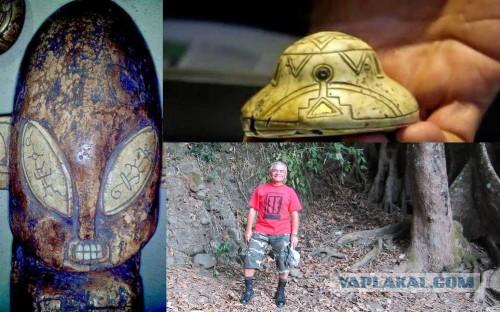В Мексике найдены каменные фигурки НЛО и их пилотов, которым больше 7000 лет