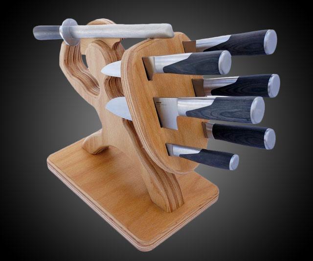 Подставка для ножей с наполнителем своими руками
