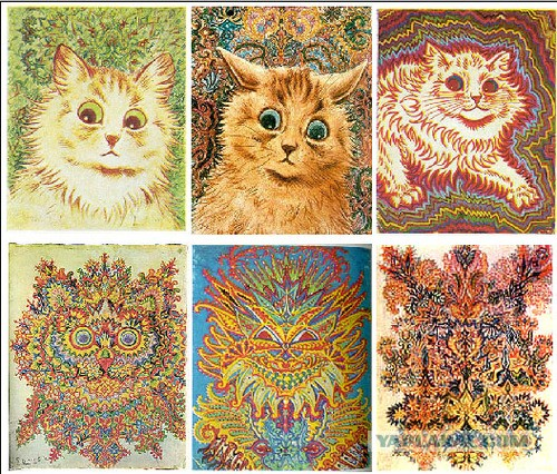 Рисунки котов при шизофрении