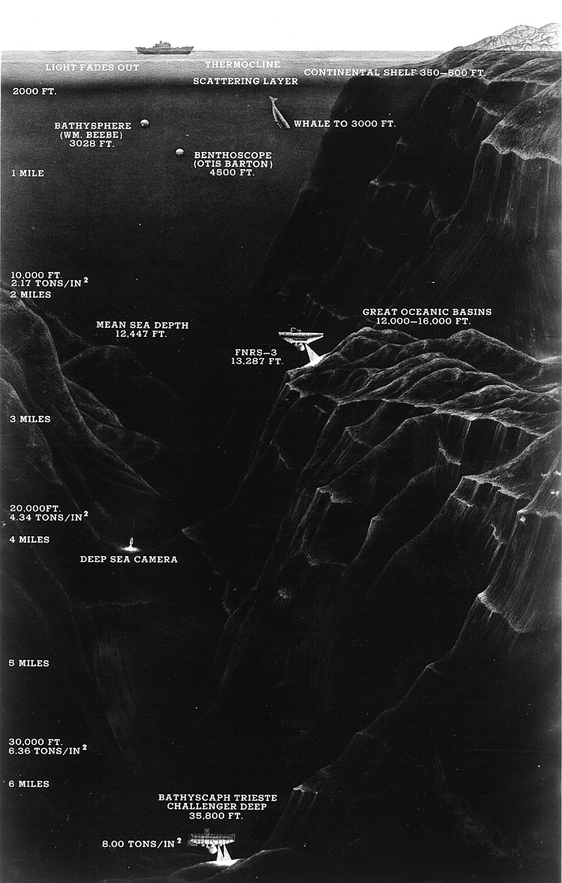 Глубочайшее место на земле - Марианская впадина