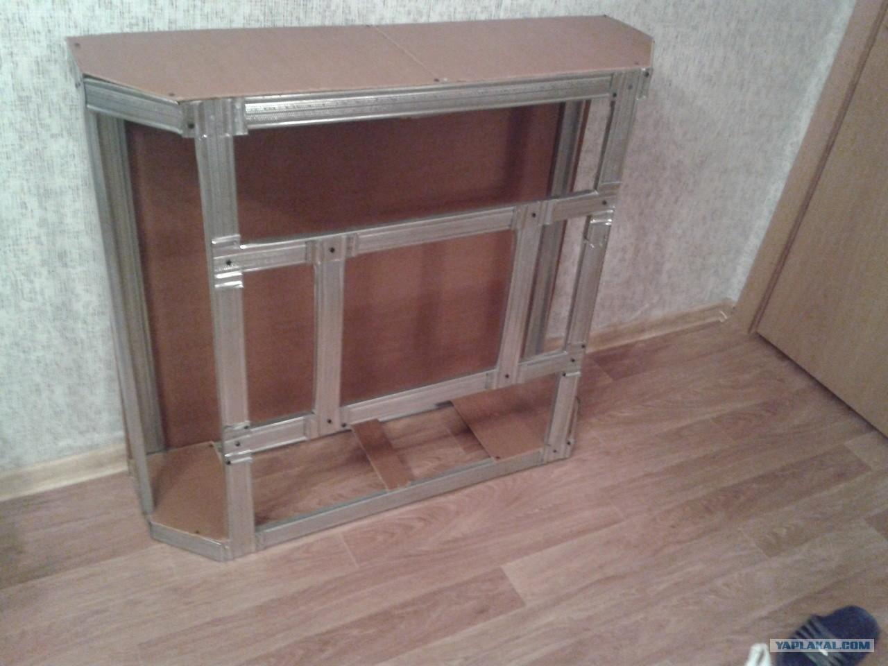 Делаем камин из коробки от телевизора своими руками: пошаговая инструкция 25