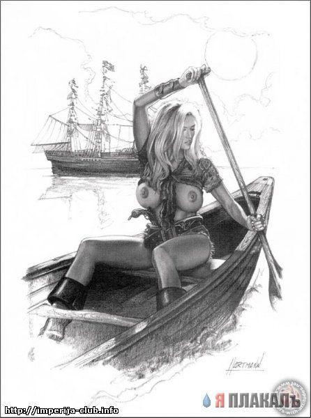 Рисованные пиратки!