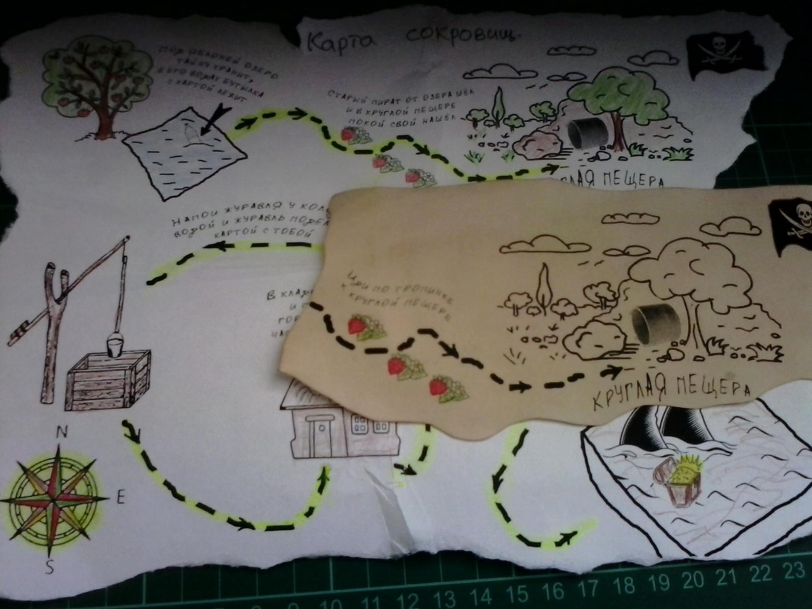 Карта сокровищ своими руками Лука Онлайн 13