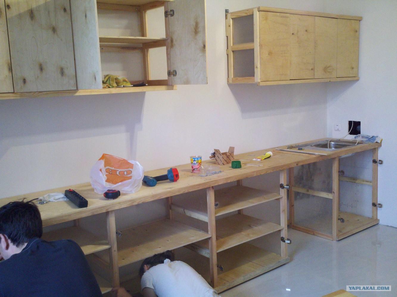Кухонный гарнитур из фанеры своими руками фото