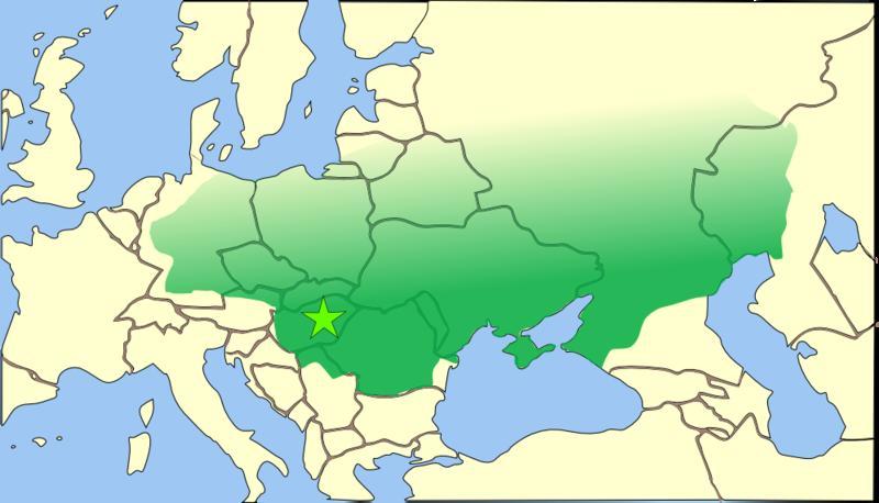 Западная часть империи гуннов в v веке
