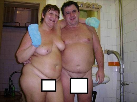 Толстуха в бане
