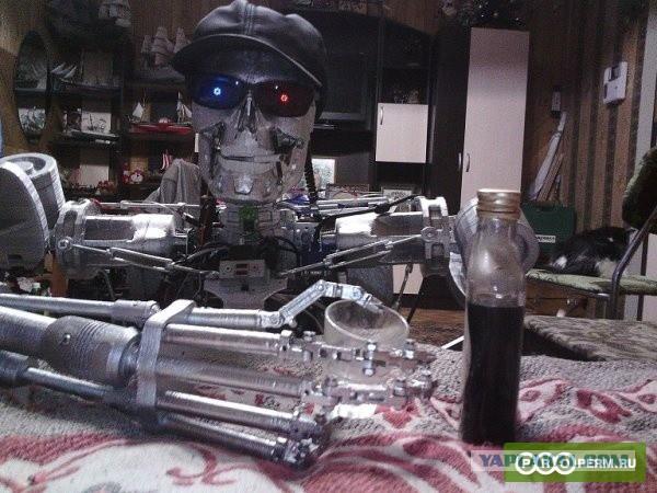 Житель Перми создал модель робота T-800 из «Терминатора»