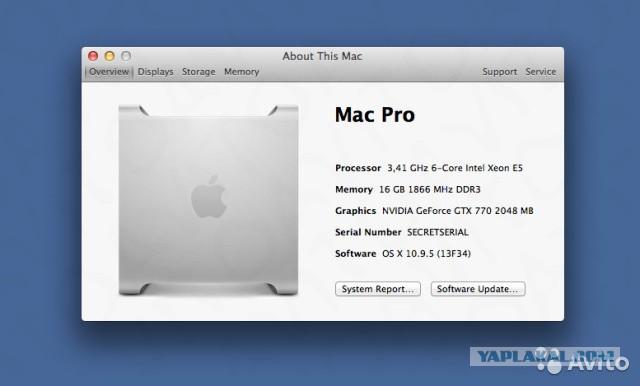 Млнщный комп Bizon Extreme pro 3, Аналог 6–ядерного Mac Pro 2016