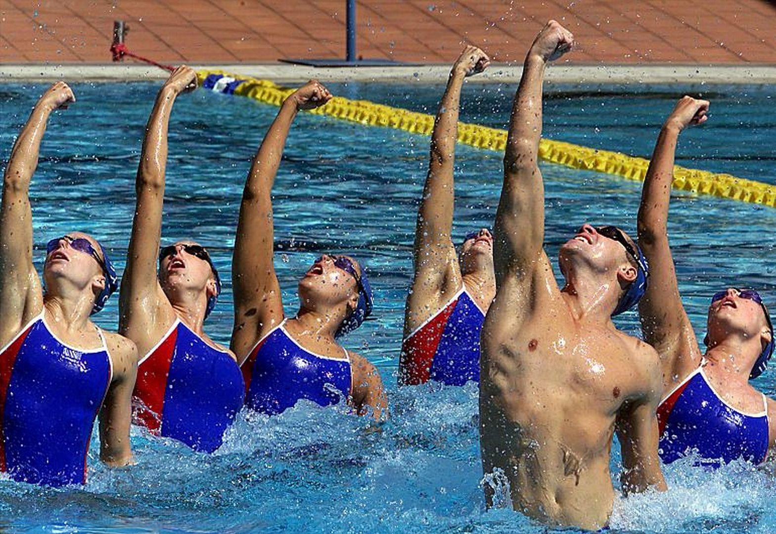Синхронное плавание голые 3 фотография