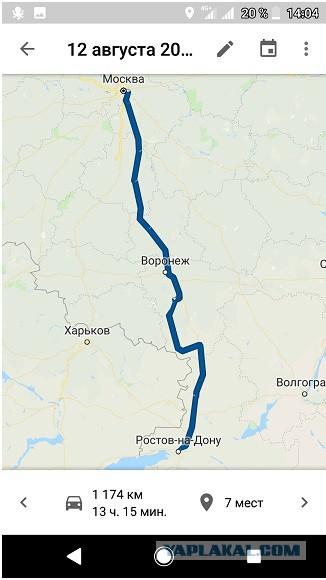 В Крым из СПб на машине