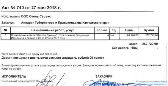 Дворец для губернатора: в командировках Илюхин ведет жизнь миллионера за счет бюджета