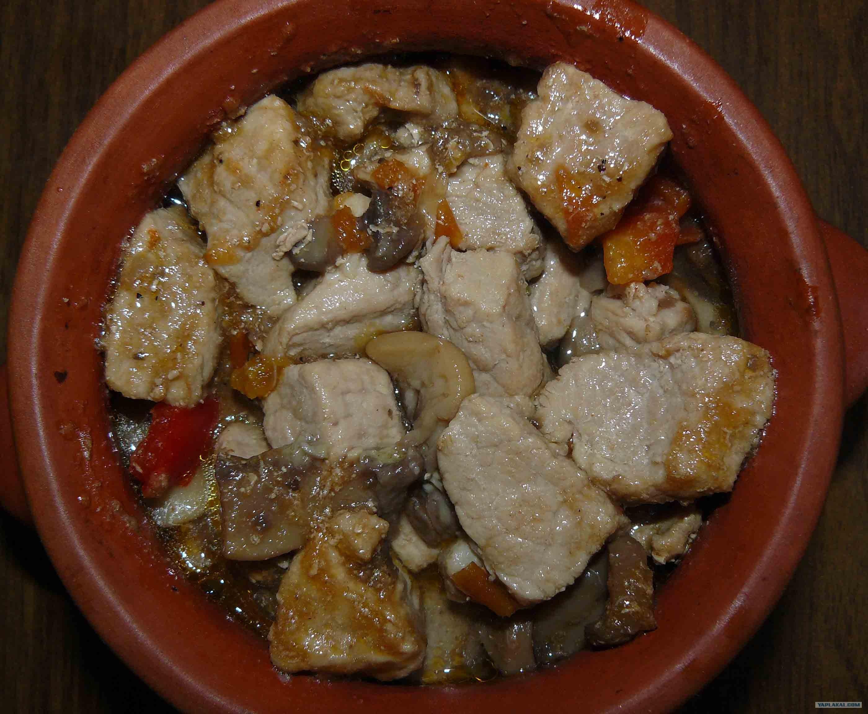 Свинина с фасолью в духовке рецепт с фото