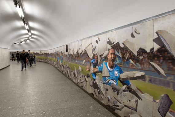 Спорт спускается в метро