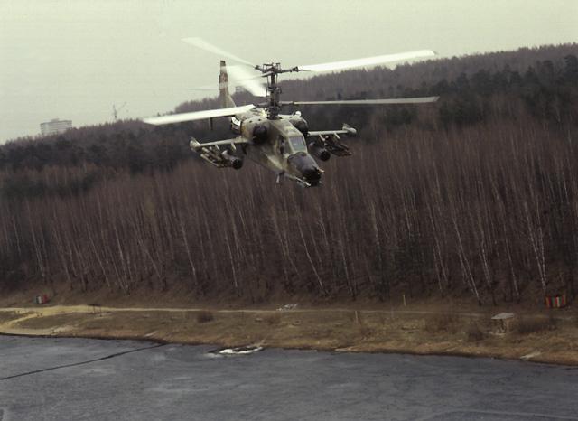 Боевой ударный вертолет Ка-50 Черная Акула.