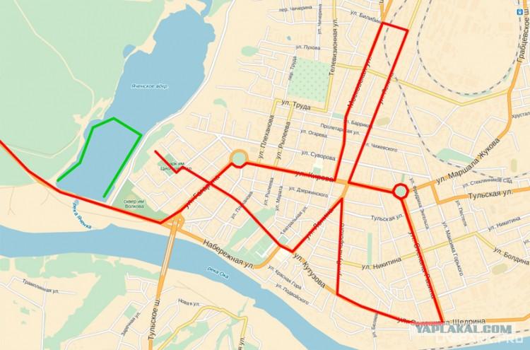 Карта маршрута эстафеты