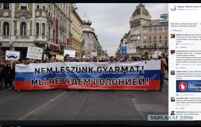 В Венгрии прошли протесты против России