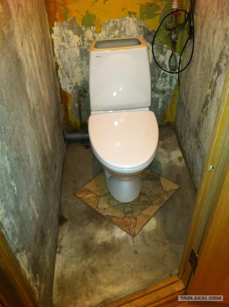 Ремонт туалета в хрущевке своими руками фото