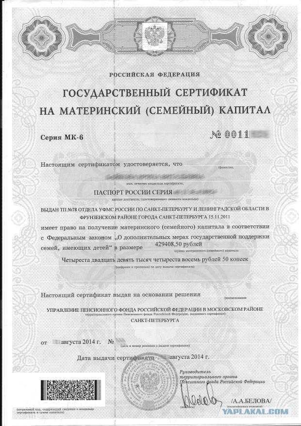 Как сделать материнский сертификат 353