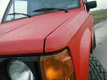 Покраска автомобиля раптором валиком