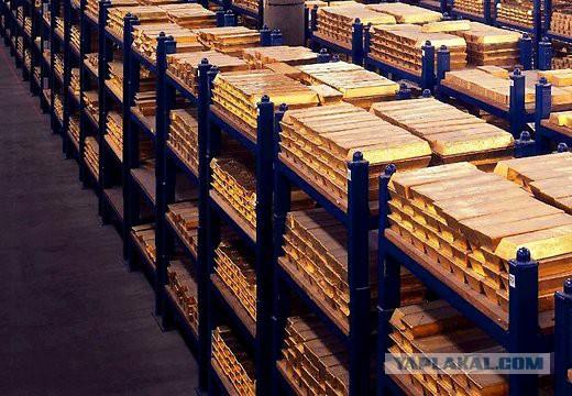 Россия резко увеличила золотой запас