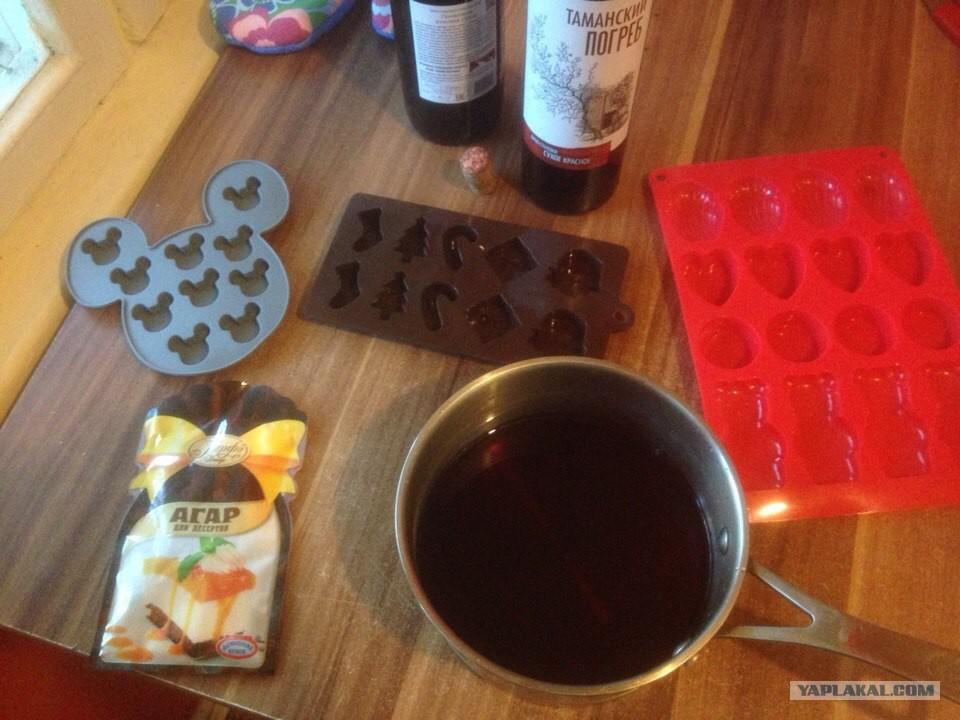 Как сделать мармелад алкогольным