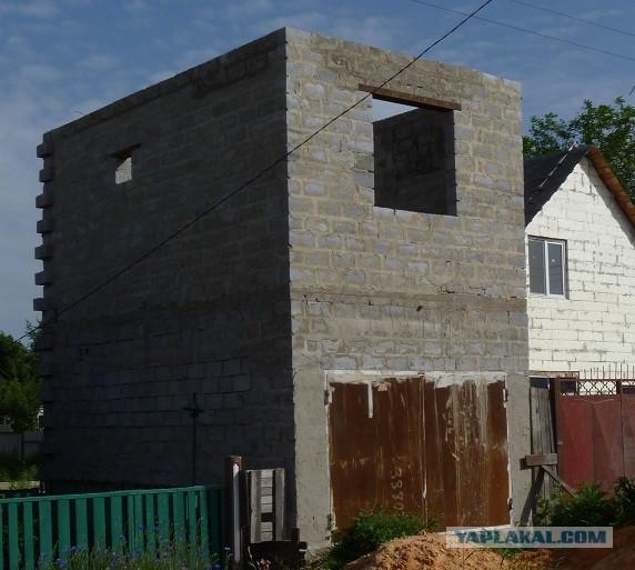 Постройка дома-гаража.
