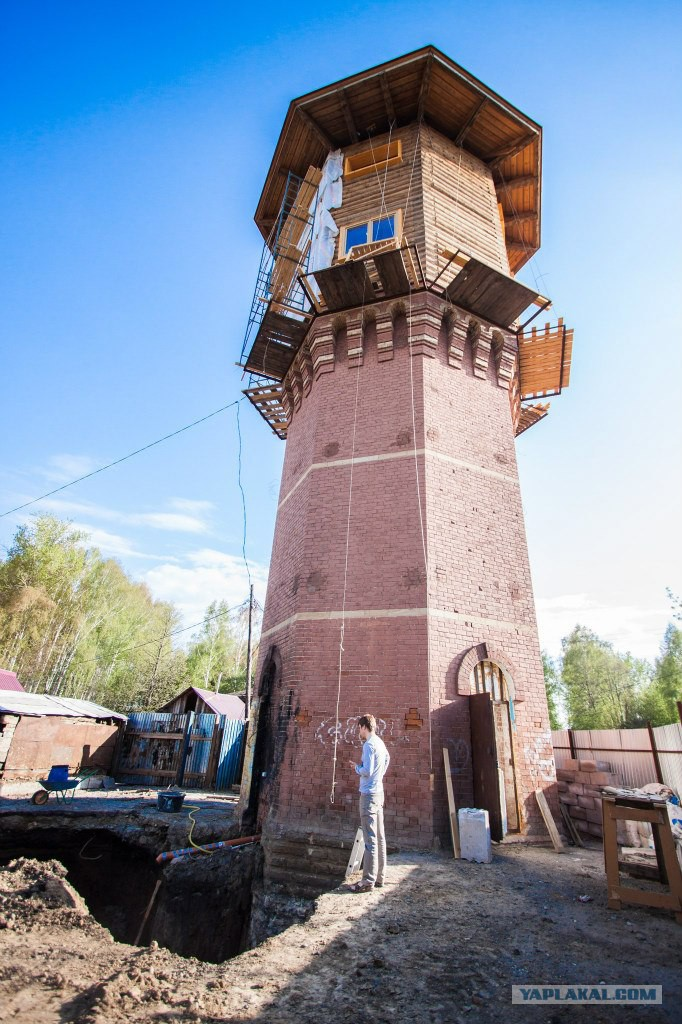 Водонапорная башня кирпичная масса