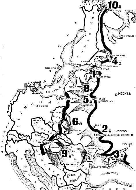10 ударов 1944 года. 9 часть.