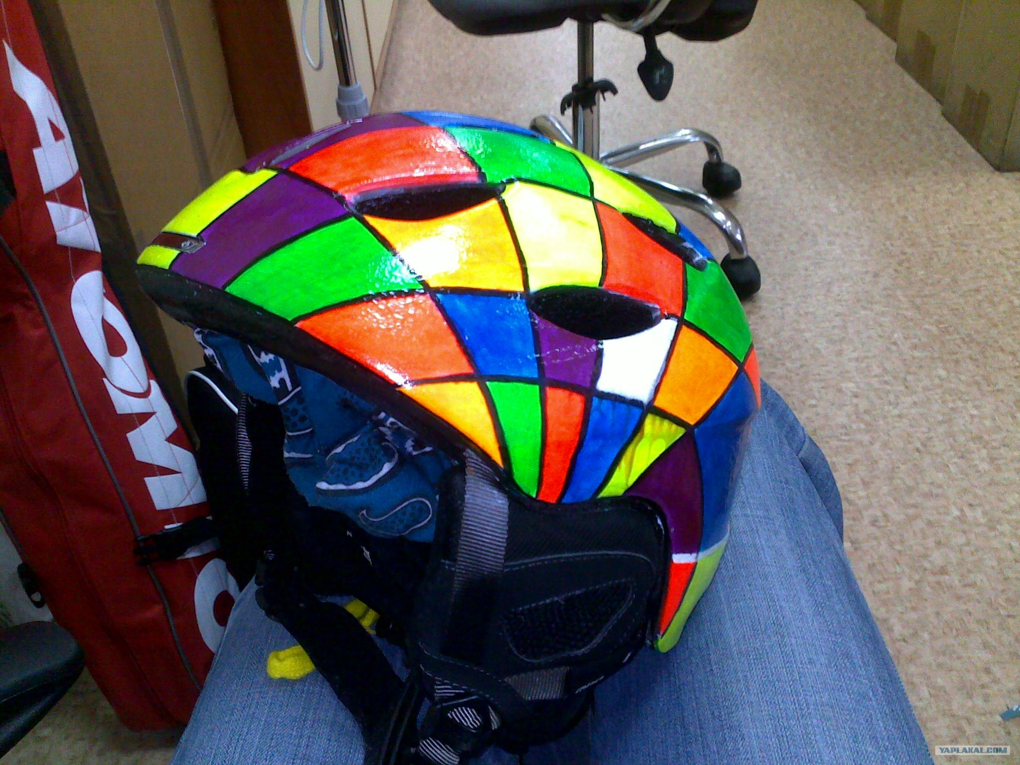 Покрасить шлем своими руками