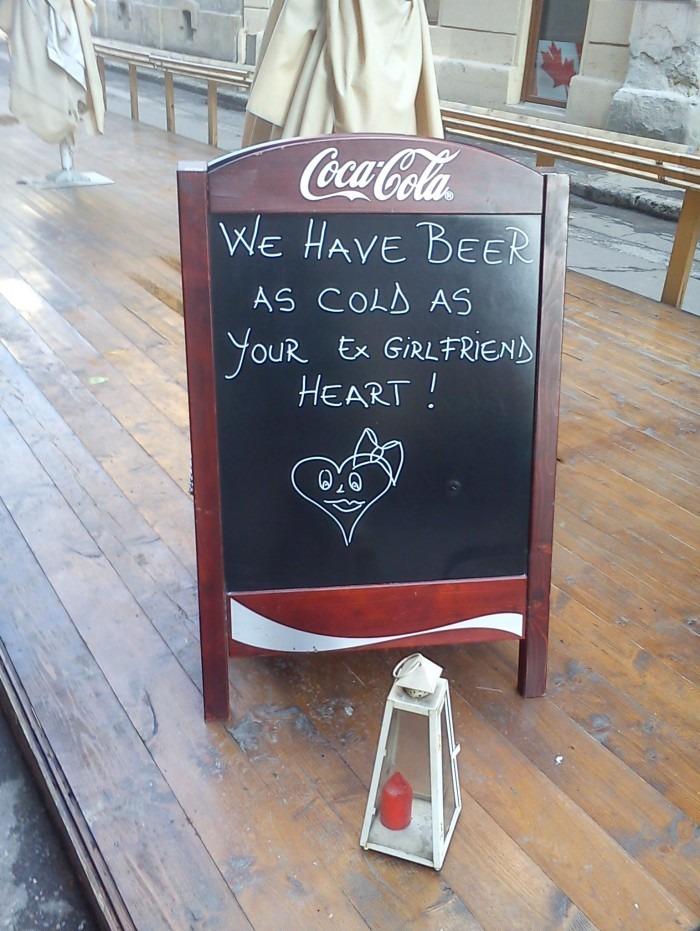 У них очень, очень холодное пиво!