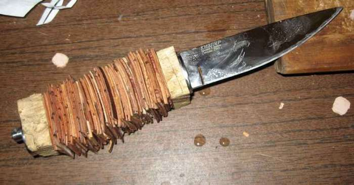 Деревянная рукоятка ножа