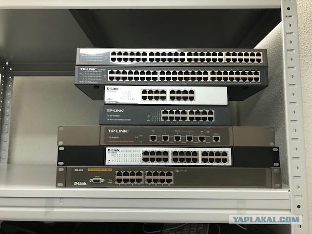 Несколько сетевого оборудования
