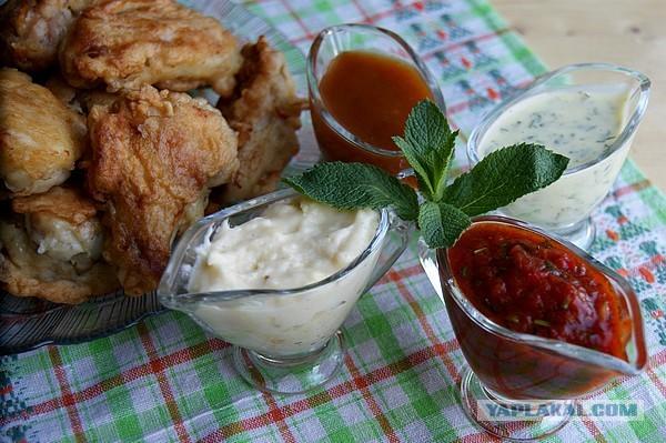 как приготовитьострый соус к куриным крылышкам