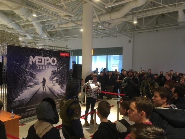 Очередь за игрой Metro Exodus в Москве