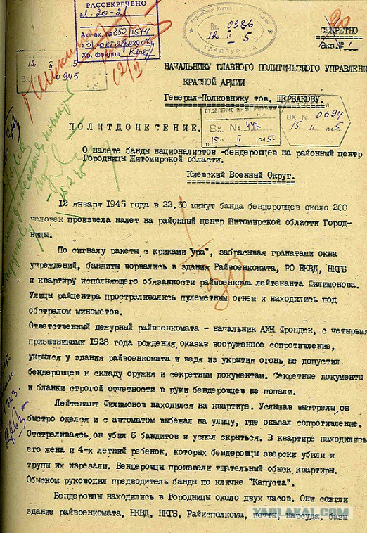 Рассекречены документы о деятельности бандеровцев