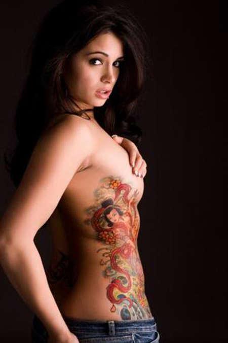 Татуировка главной части женского организма