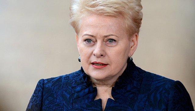 """Грибаускайте ждет """"вторжения"""" России в Литву"""