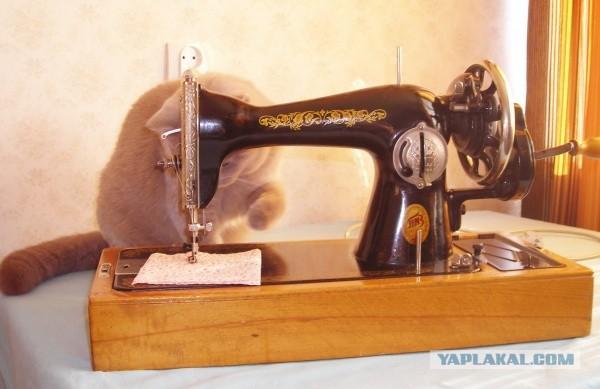 Вышивка на подольской швейной машине 96
