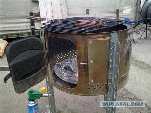 Сделать мангал своими руками из стиральной машины