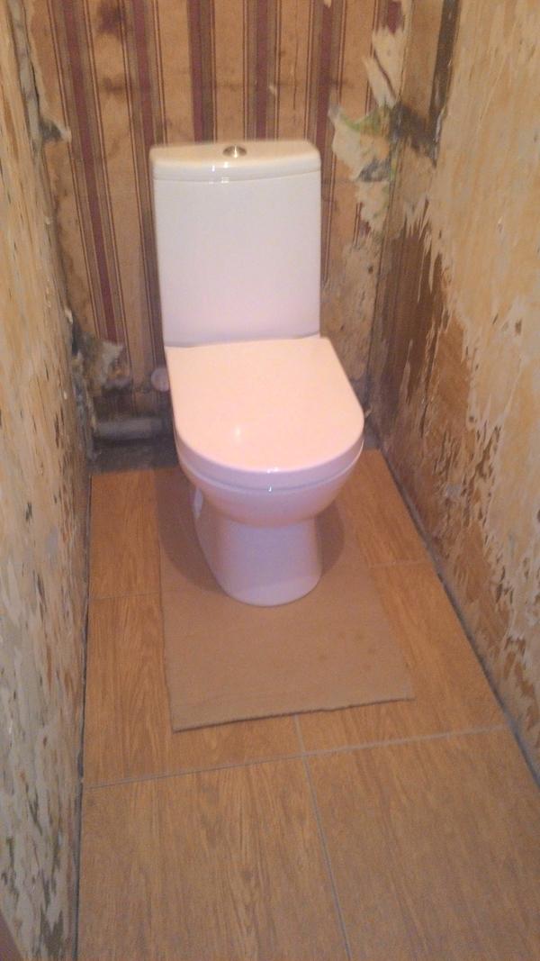 Бюджетный ремонт туалета.