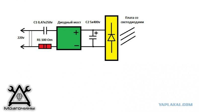 Сделать светодиодную лампу 220в своими руками