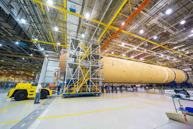 NASA: завершен сбор центрального блока ракеты для полетов на Луну